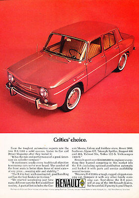 1965 Renault red R8 1100 Classic Advertisement Ad P59