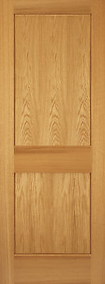 2 Panel Red Oak Mission Shaker Flat Panel Solid Core Interior Wood Doors Door