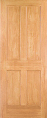 Clear Pine 4 Panel Flat Mission/Shaker StainGrade Solid Core Interior Wood Doors