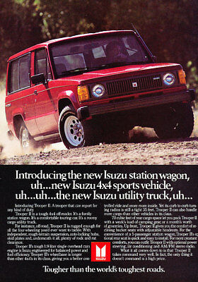 1984 Isuzu Trooper Truck Classic Advertisement Ad P60