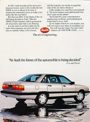 1986 Audi 5000CS Quattro Classic Advertisement Ad P65