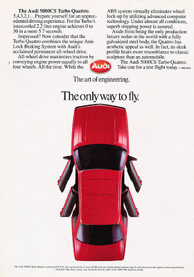 1986 Audi 5000CS Turbo Classic Advertisement Ad P65