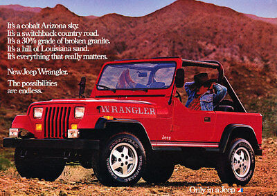 1987 Jeep Wrangler red Classic Advertisement Ad P65