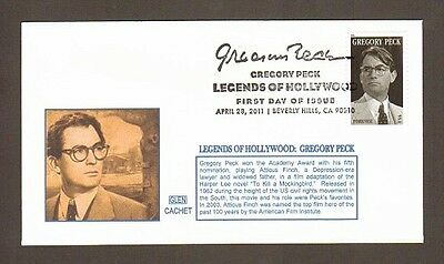 2011 Gregory Peck ~ Legend Of Hollywood ~ Glen #2 Fdc