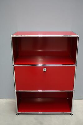 USM Haller Highboard Regal Board 3 Fach 1 Klappe rot