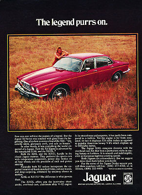 1974 Jaguar XJ6L XJ12L red Classic Advertisement Ad P69