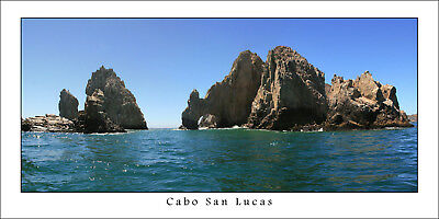 Mexico Panorama Poster Cabo San Lucas The Arch Panoramic Fine Art Print Photo