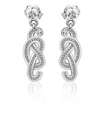 0.22ct Byzantine Art 18k Gold and Diamond Earrings