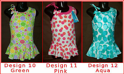 Girls Sz 8 10 12 SWIMWEAR Bathers POLKADOT TOGS with skirt NEW - Choose Colour