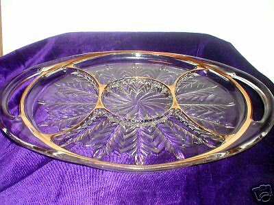 Jeannette, Feather, Five Section Relish Tray w/ Handles