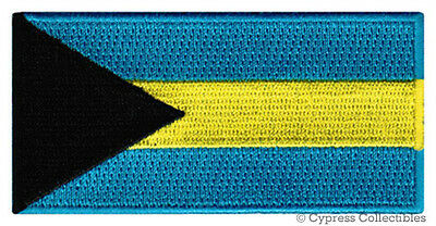 BAHAMAS FLAG embroidered iron-on PATCH Commonwealth ISLANDS EMBLEM applique NEW