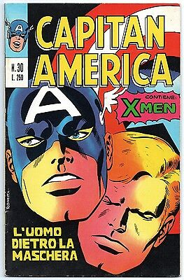 CAPITAN AMERICA corno N.30 L' UOMO DIETRO LA MASCHERA  x-men agents of shield