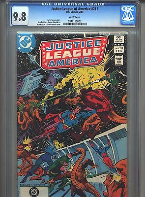 Justice League of America #211 CGC 9.8 (1983) White Pages Highest Grade