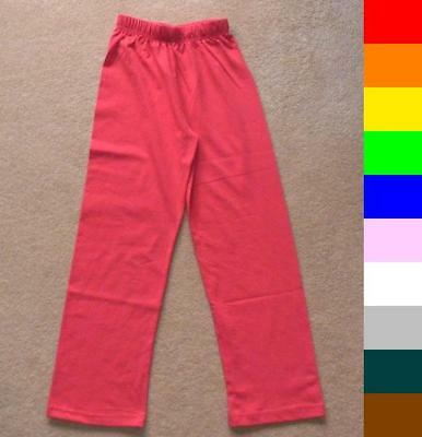 BNWT boys / girls plain cotton trousers - 10 colours
