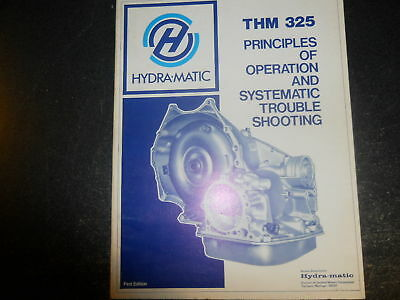 1979 Hydra-Matic Thm 325 Operation Troubleshooting Book