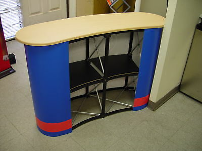 2 UNITS - Trade Show Portable Pop Up Table Display Counter Frame with Maple Lid