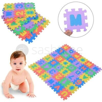 Large Kids Alphabet Numbers Letter Soft Foam Play Mat Jigsaw Learning