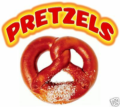 Pretzels Food Concession Stand Vinyl Sign Decal 14""