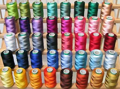 NEW 40 LARGE EMBROIDERY THREADS Country SET for Brother