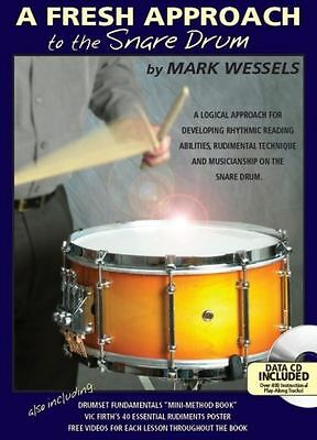 Mark Wessels A Fresh Approach To Snare Drum Sheet Music Book + CD & DVD Drumming