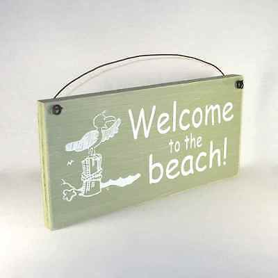 Nautical Home Decor Shabby Signs WELCOME TO THE BEACH!