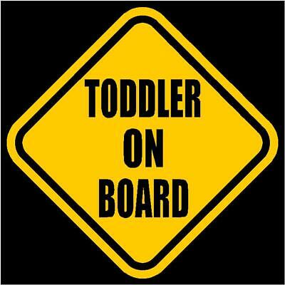 "TODDLER ON BOARD Window Decal/Sticker Yellow 5.5""H"