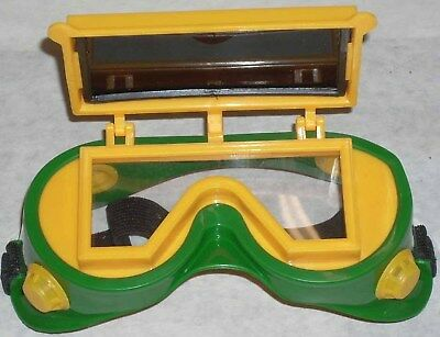 10 Green Yellow Safety Goggles Flip Up 2x4 1/4 Shade 5
