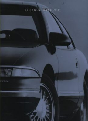 1993 Lincoln Mark VIII Continental Sales Brochure Book