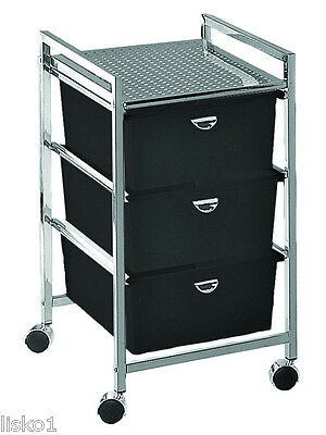 Pibbs D23 PEDICART,3-DRAWERS, STURDY METAL FRAME