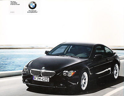 2004 BMW 645Ci 6-Series Coupe 86-page Sales Brochure