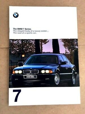 1998 BMW 7-Series 740i 750iL 740iL 48-page Original Car Sales Brochure Catalog
