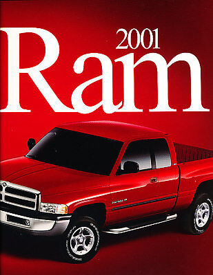 2001 Dodge Ram Truck 1500 2500 3500 Sales Brochure Book
