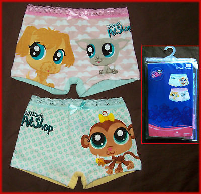 2  LITTLEST PET SHOP BOYLEG UNDIES Underwear Sz 2 3 4 5