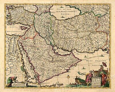 Persia and Arabia 1666 Historic Exploration Map - 20x24