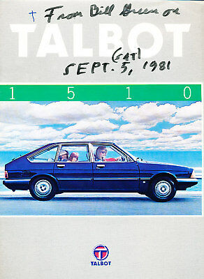 1981 Talbot 1510 French Original Sales Brochure
