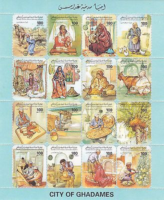 stamps LIBYA 1995 SC 1518 CITY OF GHADAMES MNH SHEET SET CV=$21.00 */*