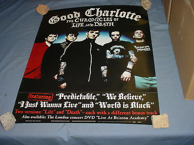 GOOD CHARLOTTE Chronicles life & death PROMO POSTER '04