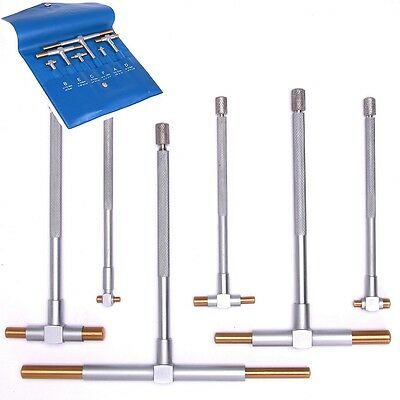 6 TiN TELESCOPING T BORE HOLE Precision GAGE GAUGE SET