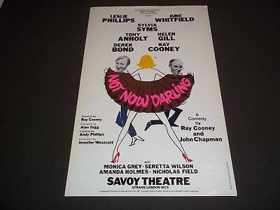 1980 Not Now Darling Savoy Theater Poster Leslie Phillips June Whitfield - P 206