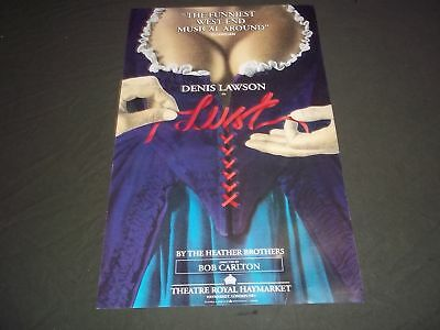 1993 Lust Theater Royal Haymarket Poster Denis Lawson Bob Carlton - P 202