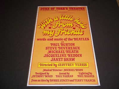 1981 With A Little Help From My Friends Theater Poster Geoffrey Ferris - P 201