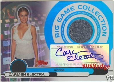 "2005-06 Topps Worn-Jeans Auto: Carmen Electra #37/50 Autograph Swatch ""playboy"""