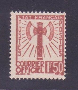 """FRANCE SERVICE N°8 """"FRANCISQUE 1F50 BRUN-ROUGE"""" NEUF xx"""