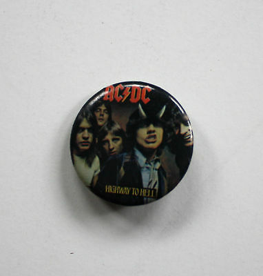 AC/DC Highway to Hell Pinback Button Early 1980s