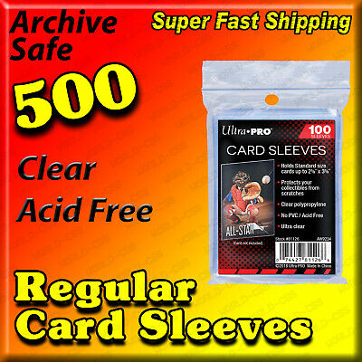 500 Aceo - Atc Polypropylene Clear Plastic Card Sleeves