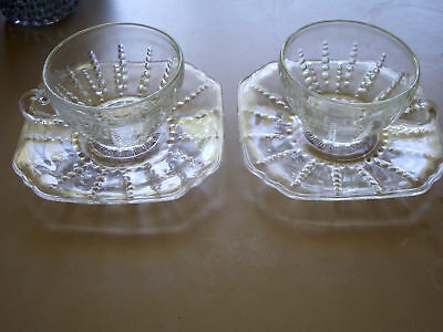 Columbia Cup and Saucer (Set of 2) - Federal Glass
