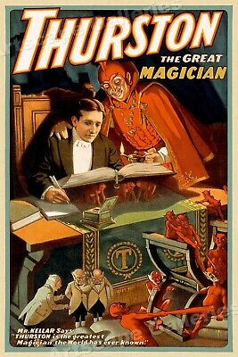 """1910 """"Thurston The Great Magician"""" Magic Book Poster - 16x24"""