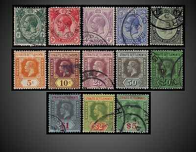 1912 - 1918 Straits Settlements King George V Used