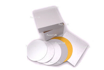 """8, 10, 12, 14 & 16"""" Inch Square or Round Cake Board 3mm"""