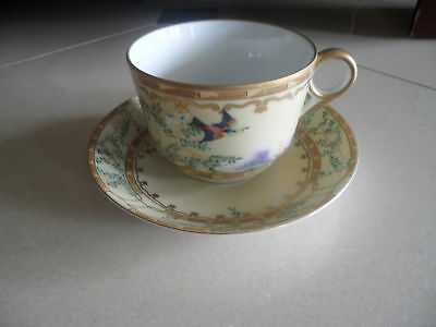 Mottahedeh Ching /Ch'ing Garden Tea Cup and Saucer